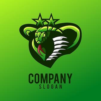 Design de logotipo de cobra