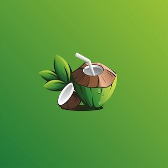 Design de logotipo de coco