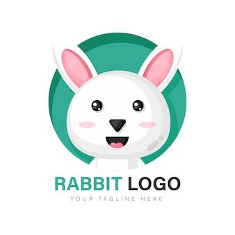 Design de logotipo de coelho fofo