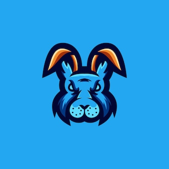 Design de logotipo de coelho