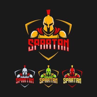 Design de logotipo de coleção espartano