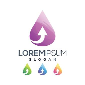 Design de logotipo de coleção gradiente de seta de ícone