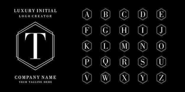 Design de logotipo de coleção inicial