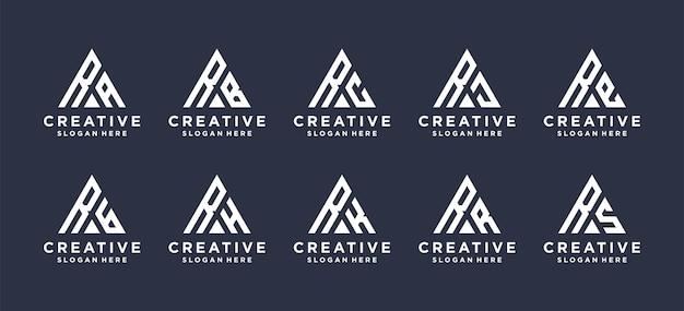 Design de logotipo de combinação de letra r.