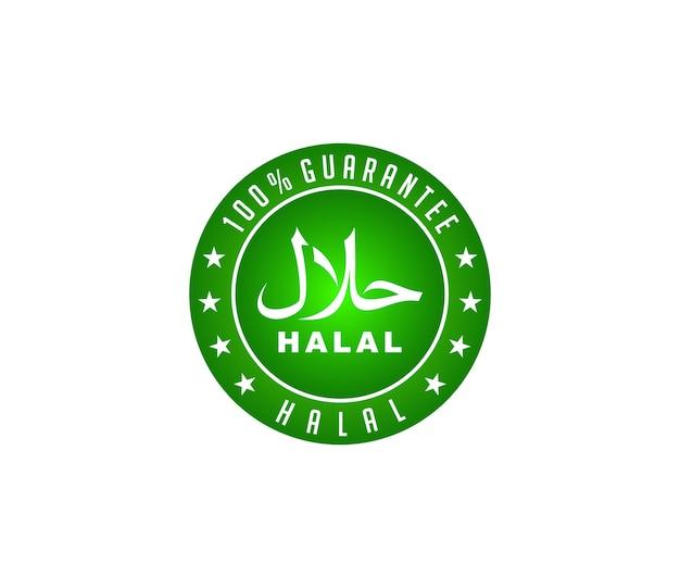 Design de logotipo de comida halal