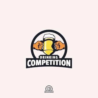 Design de logotipo de competição de bebida