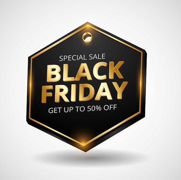 Design de logotipo de compras online da black friday