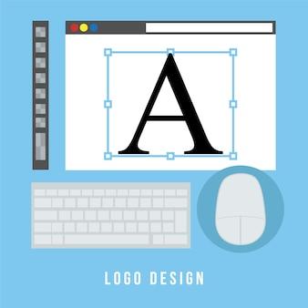 Design de logotipo de conceito de negócios