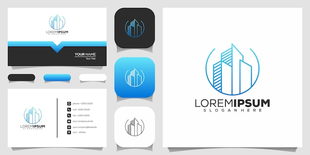 Design de logotipo de construção civil