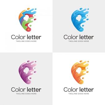 Design de logotipo de contorno letra p.