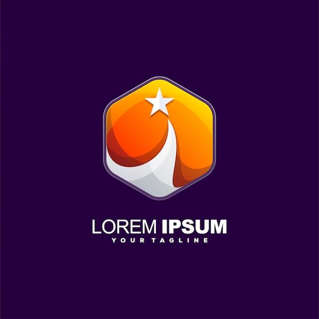 Design de logotipo de cor do sol de beleza