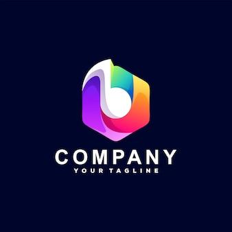 Design de logotipo de cor gradiente de música