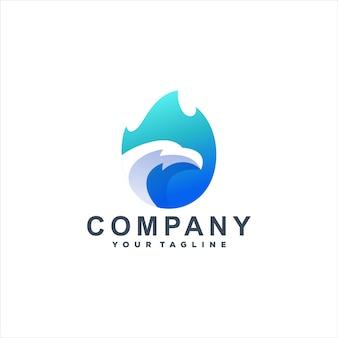 Design de logotipo de cor gradiente eagle