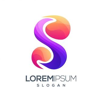 Design de logotipo de cor gradiente letra s