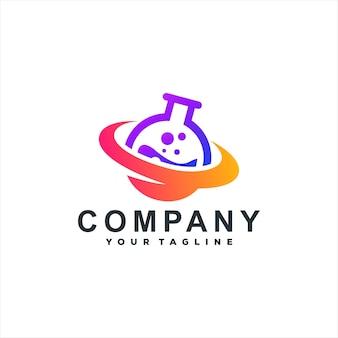 Design de logotipo de cor gradiente químico