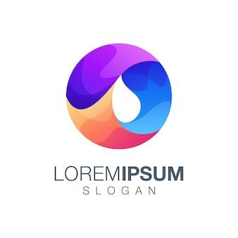 Design de logotipo de cor gradiente redondo