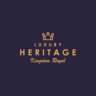 Design de logotipo de coroa de luxo criativo