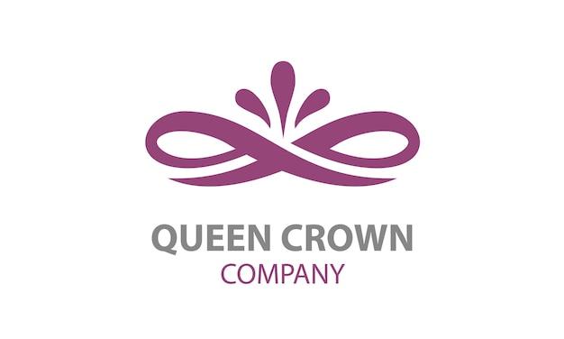Design de logotipo de coroa floral elegante de beleza