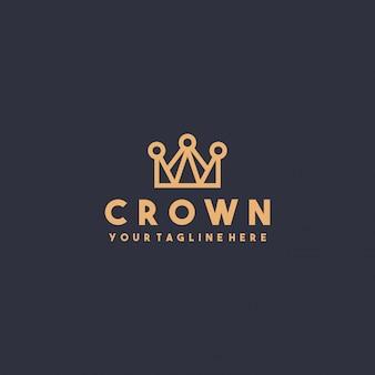 Design de logotipo de coroa premium criativo