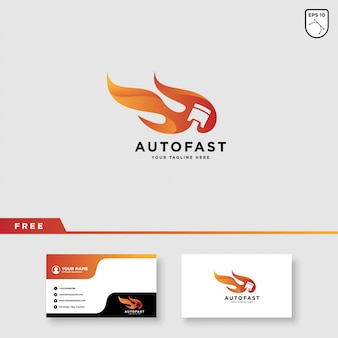 Design de logotipo de corrida de carro de velocidade