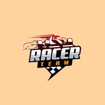 Design de logotipo de corrida de fórmula 1