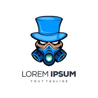 Design de logotipo de cowboy e máscara