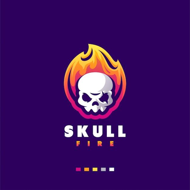 Design de logotipo de crânio para esports de jogos