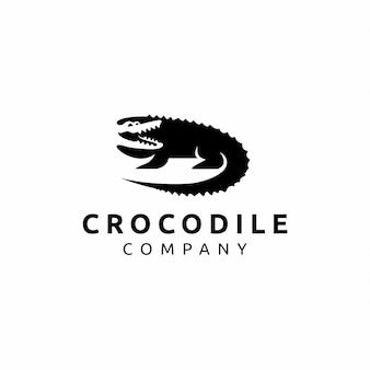 Design de logotipo de crocodilo