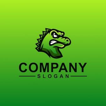Design de logotipo de crocodilo