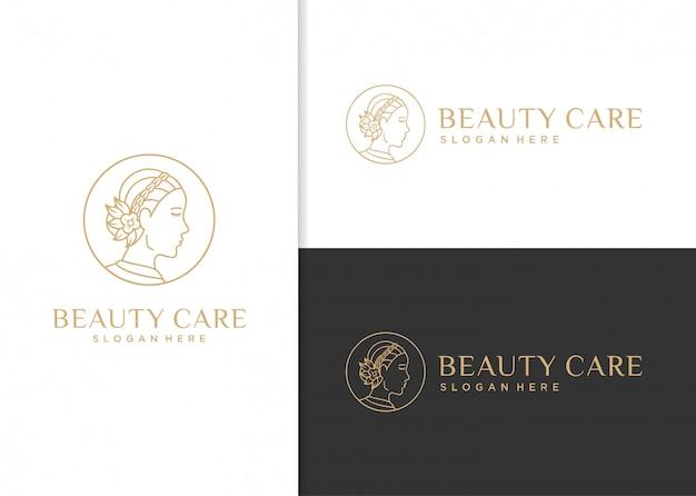 Design de logotipo de cuidados de beleza