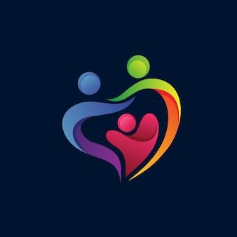 Design de logotipo de cuidados familiares e fundação