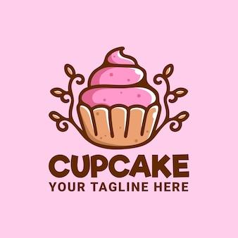 Design de logotipo de cupcake