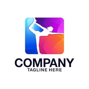 Design de logotipo de dança de balé