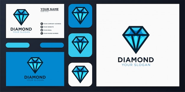 Design de logotipo de diamante