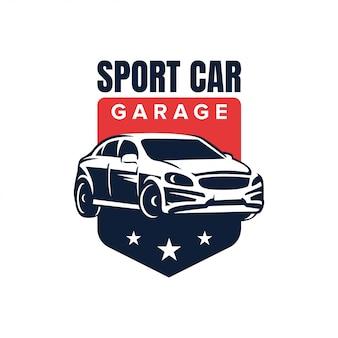 Design de logotipo de distintivo de carro esporte
