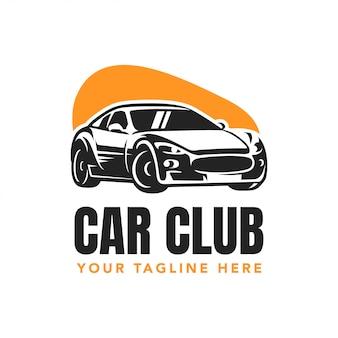 Design de logotipo de distintivo de clube de carro