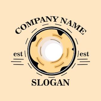 Design de logotipo de donut simples moderno