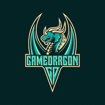 Design de logotipo de dragão para esports