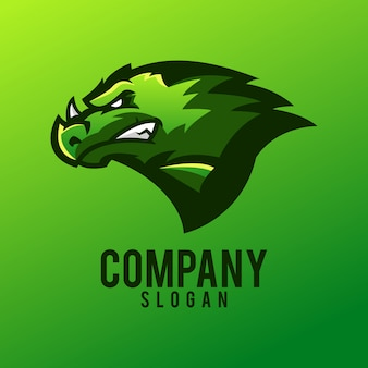 Design de logotipo de dragão