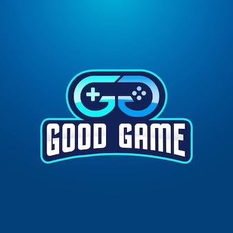 Design de logotipo de dupla letra g jogos