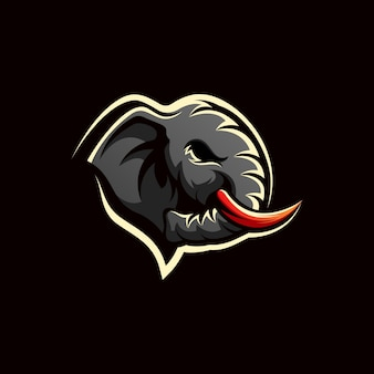 Design de logotipo de elefante