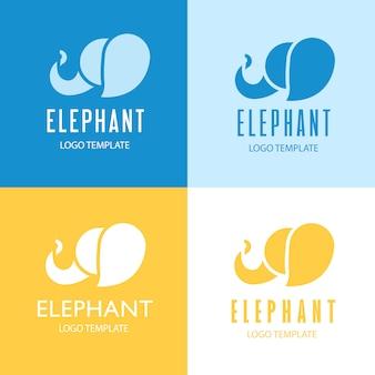 Design de logotipo de elefante.