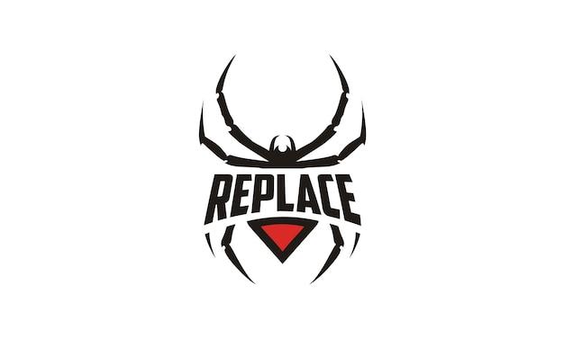 Design de logotipo de emblema de aranha