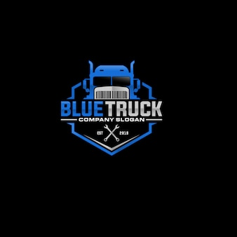 Design de logotipo de empresa de caminhão automotivo