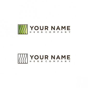 Design de logotipo de empresa de erva