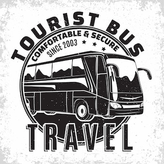 Design de logotipo de empresa de viagens de ônibus