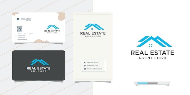 Design de logotipo de empresa imobiliária e design de cartão de visita