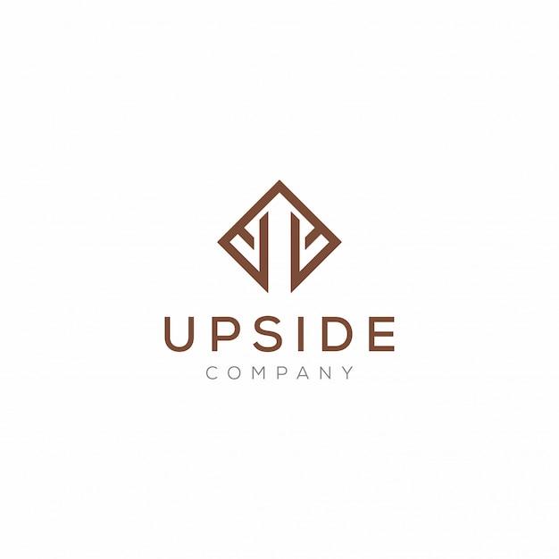Design de logotipo de empresa simples e moderno e minimalista
