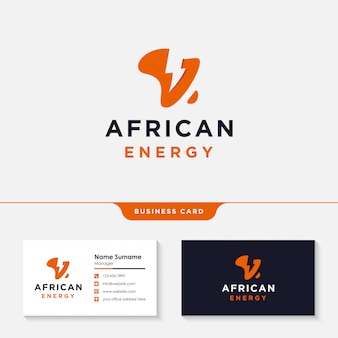 Design de logotipo de energia de energia de áfrica