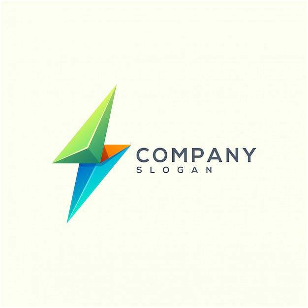 Design de logotipo de energia